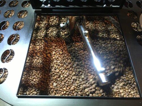 Topper Kaffeebohnen kühlen aus