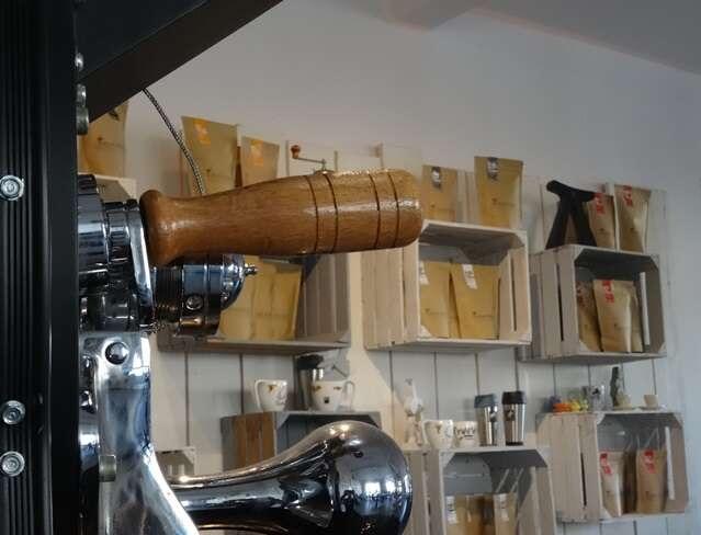 Toper mit den verschiedenen Kaffeesorten