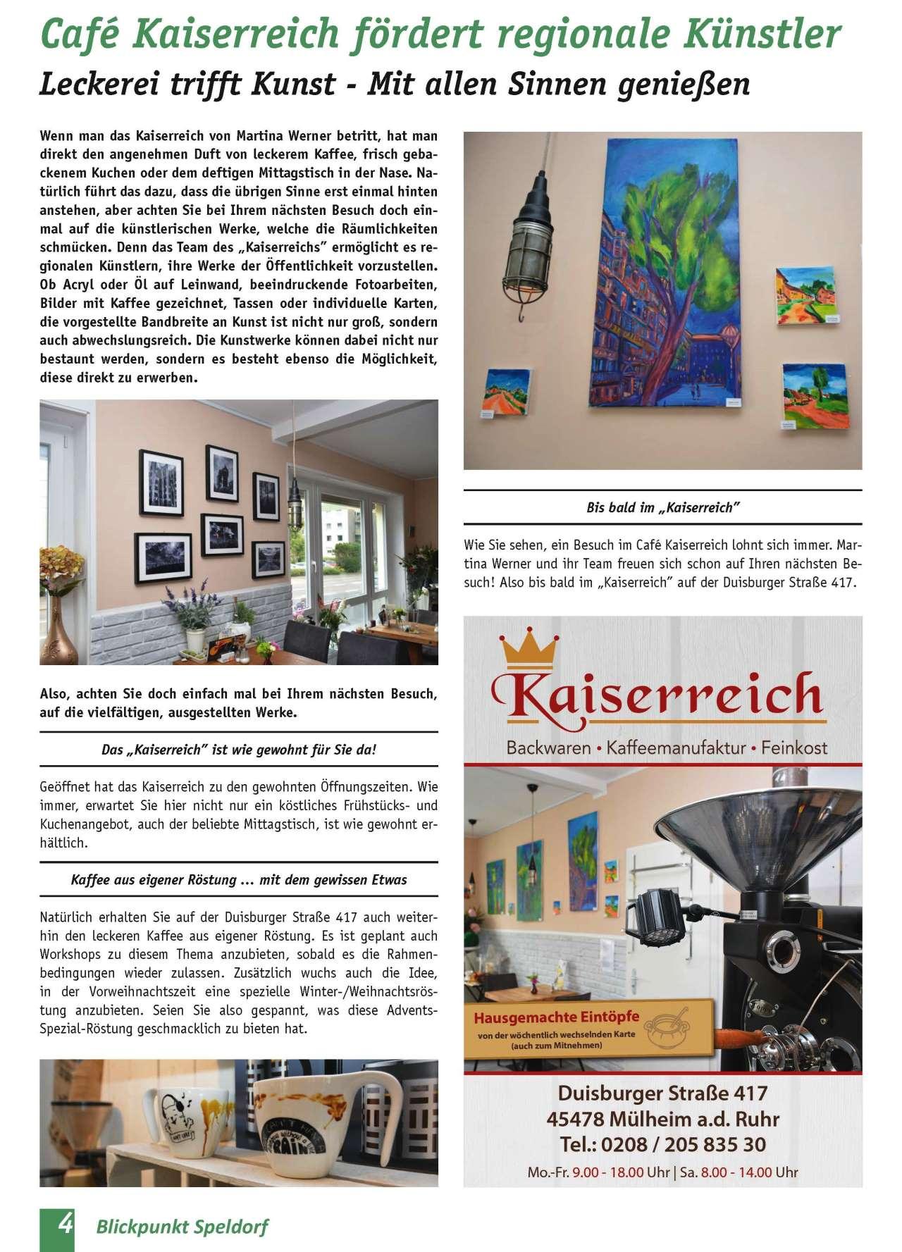 Café Kaiserreich fördert regionale Künstler
